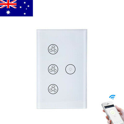 AU31.59 • Buy WiFi Smart Celling Fan Switch Wall Light Touch Pane For Alexa Google Home AU