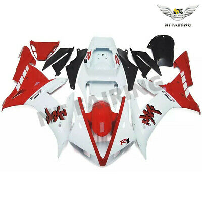 $489.99 • Buy WOO Fit For Yamaha R1 YZF 02-2003 White Red Injection Fairing Plastics Kit E035