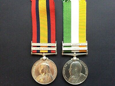 AU675 • Buy Boer War QSA/KSA Pair , Original Medals Awarded To PTE G. Jackson, S. WALES BORD