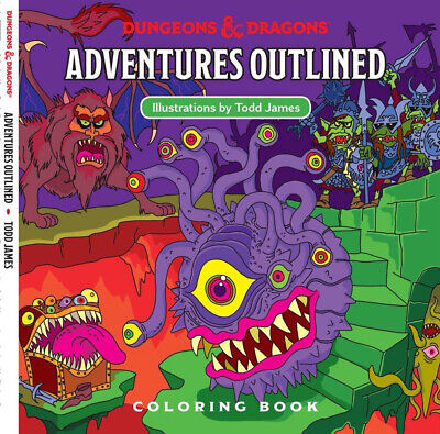 AU24.95 • Buy Dungeons & Dragons Adventures Outlined 5th Edition Coloring Book Monster Manual