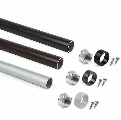 £2.50 • Buy Wardrobe Rail Round Pipe Tube Hanging Rail Set All Sizes All Colours