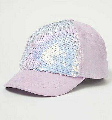 £6.99 • Buy George Girls Lilac Iridescent Sequin Pannel Cap 4-8 Years ⭐BNWT⭐