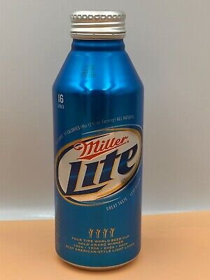 $5.95 • Buy Miller Lite Beer Bottle Can T O Aluminum With Cap Miller Brewing Milwaukee WI