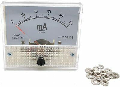 $14.54 • Buy Ammeter  DC 0-30ma Current Panel Meter Analog Ammeter 2.5x2.2x2.2  (LxW) 0-30mA