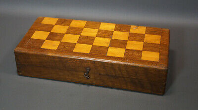 £56.78 • Buy Old Antique Chessboard Chess Backgammon Mahogany Game Board Dovetailed 11  X 11