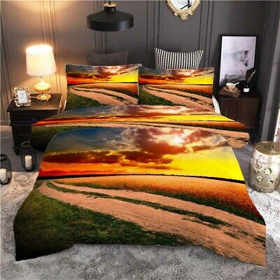 AU82.11 • Buy There Is Rice Wheat Everywhere 3D Quilt Duvet Doona Cover Set Pillow Case Print