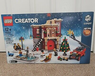 Lego Creator 10263 Winter Village Fire Station New & Factory Sealed *Retired* • 104.99£
