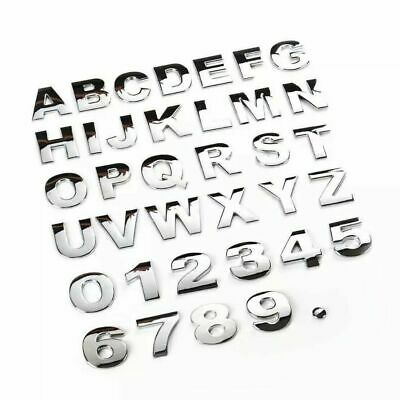 £1.49 • Buy 25mm (1 ) Self Adhesive Chrome Finish Letters And Numbers