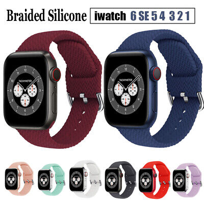 $ CDN5.63 • Buy For Apple Watch Series SE 6 5 4 3 2 1 Braided Silicone Strap Band 38/40/42/44mm