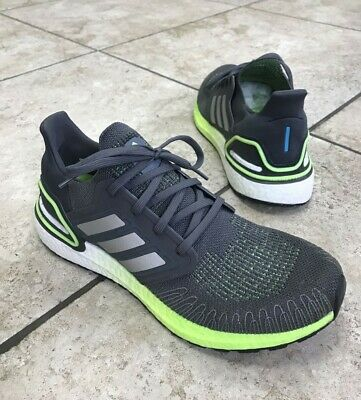 $ CDN75.13 • Buy Adidas Mens Ultraboost 20 FV8317 Grey Silver Green Sz 9.5 EU 43