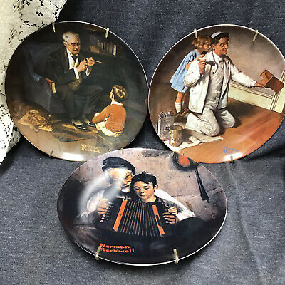 $ CDN21.04 • Buy Lot Of 3 Norman Rockwell Plates Knowles 1981 -1984 Limited Edition Numbered