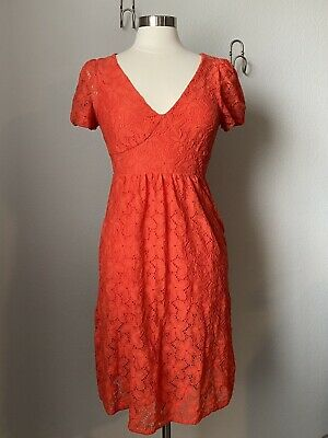 $ CDN35.09 • Buy Anthropologie Leifnotes Dogflora Coral Dress Size Small