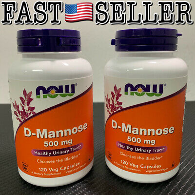 AU37.13 • Buy NOW Foods D-Mannose 500 Mg, 120 Vegetable Capsules (2-PACK) Exp:07/2021 - SEALED