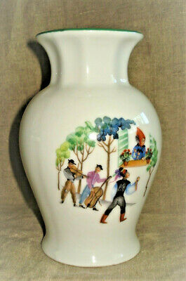 AU21.96 • Buy Vtg Zsolnay Pecs Hungary Ethnic Outfits SERENADE 6  H Porcelain Vase