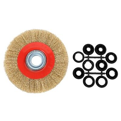 $ CDN38.73 • Buy 1Pcs 8 Inch 200mm Steel Flat Wire Wheel Brush With 10pcs Adaptor S For Bench V1