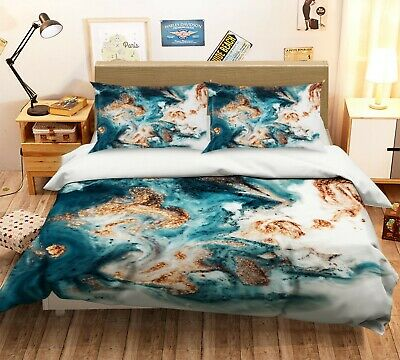 AU116.99 • Buy 3D Gold Mixing NAO2618 Bed Pillowcases Quilt Duvet Cover Set Queen King Fay