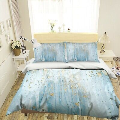 AU116.99 • Buy 3D Blue Gold Primer NAO2626 Bed Pillowcases Quilt Duvet Cover Set Queen King Fay