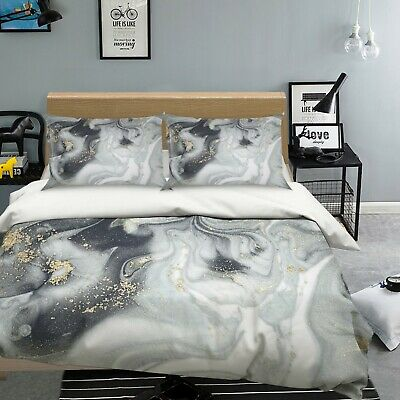 AU116.99 • Buy 3D Grey Texture NAO2629 Bed Pillowcases Quilt Duvet Cover Set Queen King Fay