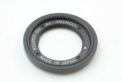 $ CDN206.22 • Buy [ Near MINT ] Contax T3 30.5mm Adapter Black For T3 From Japan
