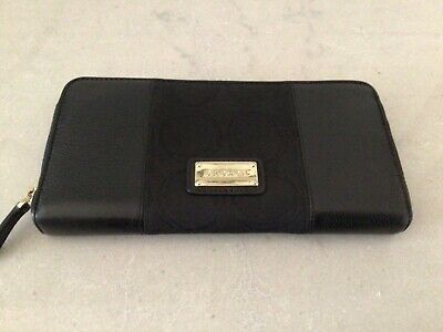 AU49.95 • Buy OROTON RocheJacquard Leather Large Multi Pocket Wallet Clutch Black Brand New.