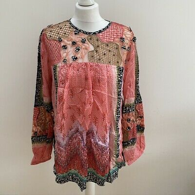 $ CDN34.54 • Buy Anthropologie Bhanuni By Jyoti Rosario Embroidered Blouse/Top. Pink. RRP £130