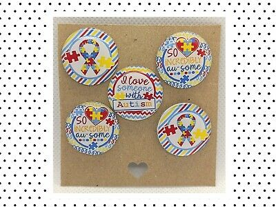 £2.49 • Buy 5 X 1  Inch 25mm Resin Domes ,Cabachon, Bottle Caps - Autism Awareness