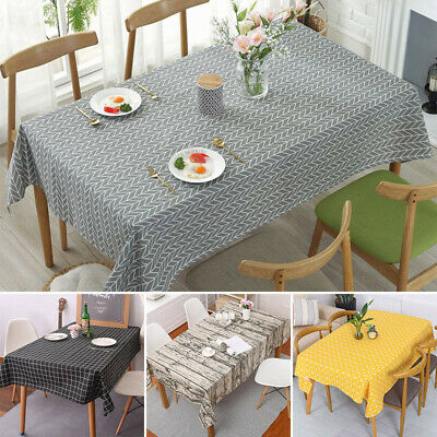 AU19.89 • Buy New Cotton Linen Tablecloth Tea Cloth Dining Kitchen Table Cover Protector Sheet