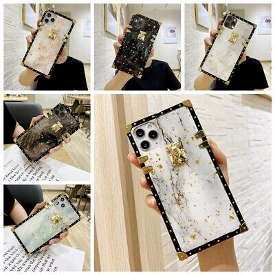 AU14.80 • Buy For IPhone 12 11 Pro XS Max XR 7 8  Epoxy Marble Pattern Square TPU Case Cover