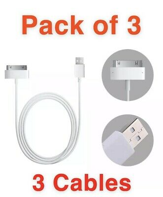 £2.50 • Buy X3 Pack Charging Cable Charger Lead For Apple IPhone 4,4S,3GS,iPod,iPad2&1