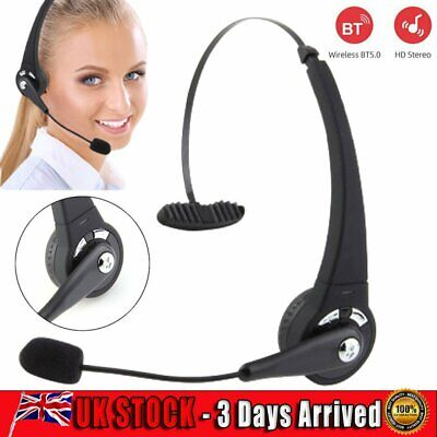 £16.99 • Buy Wireless Bluetooth Call Center Headphone Monaural Customer Service Headset W/mic