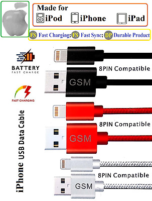 AU7.24 • Buy Genuine IPhone Charger Cable USB Apple Fast Charging Lead Sync 6 6S 7 8 XR IPad