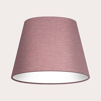 £29.50 • Buy Lampshade Tapered Mauve Textured 100% Linen Empire Light Shade