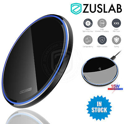 AU15.95 • Buy Universal 15W Qi Wireless Charger Charging Pad For IPhone 12 11 Pro Max Samsung