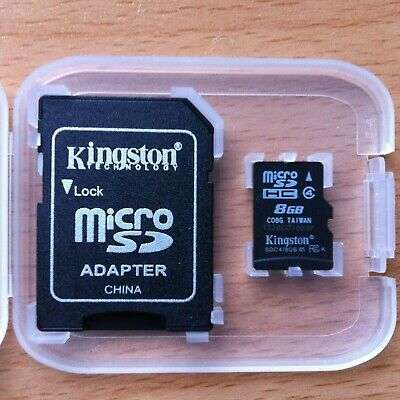 AU6.99 • Buy Kingston Micro SD 8GB SDHC Memory Card SD TF Mobile Phone Class 4 + Card Adapter