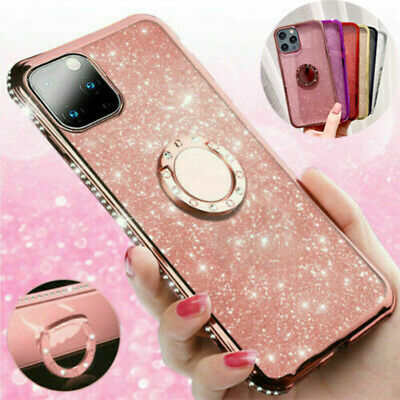 AU11.99 • Buy For IPhone13 12 Pro 11 Xs XR Max Bling Glitter Diamond Ring Holder  Case Cover