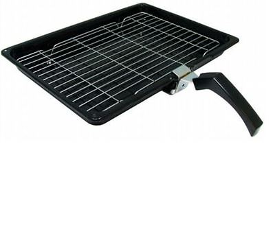 £14.75 • Buy Cooker Oven Grill Pan Tray With Rack & Handle For Belling 380mm X 280mm