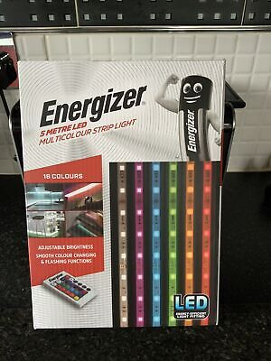 £28 • Buy Energizer 5 Metre Indoor Multi Colour Changing LED Light Strip & Remote Control