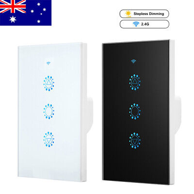 AU32.99 • Buy WiFi Smart Dimmer Switch Wall Light Touch Panel Control For Alexa Google