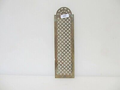 £12 • Buy Victorian Brass Finger Plate Push Door Handle Pierced French Antique Old Vintage