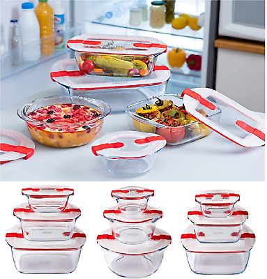 £9.75 • Buy Glass Meal Containers Food Storage Box With Vented Lid Cook And Heat Pyrex