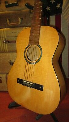 $ CDN628.17 • Buy Vintage 1964 Silvertone Classical Nylon String Acosutic Natural With OSSC