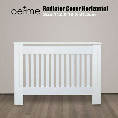£33.98 • Buy White Radiator Cover Grill Shelf Cabinet MDF Wood Modern Traditional Furniture