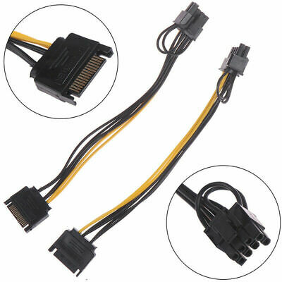 AU7 • Buy 15pin SATA Male To 8pin 6+2 PCI-E Power Cable Gaming Graphic Video Card Bitcoin