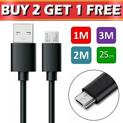 £2.99 • Buy Micro USB Cable 1m 2m 3m Charging Charger Data Sync For Samsung Android Phones