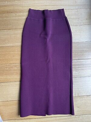AU220 • Buy Scanlan Theodore Crepe Knit Skirt Mulberry Size S As New