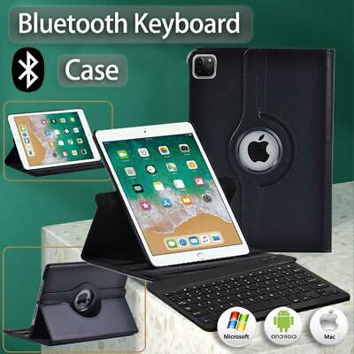 £12.99 • Buy Rotating Leather Stand Case Cover+Bluetooth Keyboard For Apple IPad Mini/Air/Pro