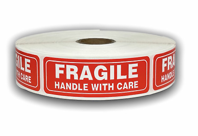 $6.50 • Buy 500 Labels 1x3 FRAGILE Handling Caution Warning Mailing Shipping Stickers