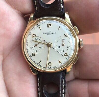 £2090.99 • Buy ULYSSE NARDIN 18k Solid Gold Valjoux 23 Chronograph Working Condition,serviced
