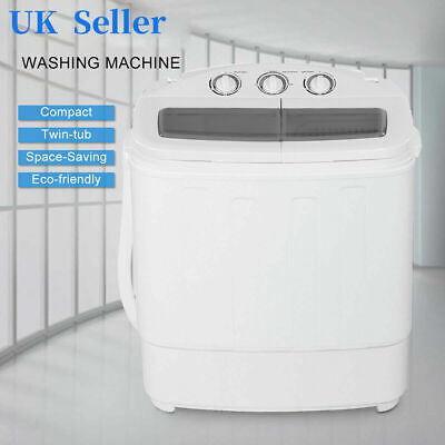 £117.43 • Buy 8.4KG 220V Automatic Twin Tub Washing Machine Spin Dryer Laundry Drying Washer