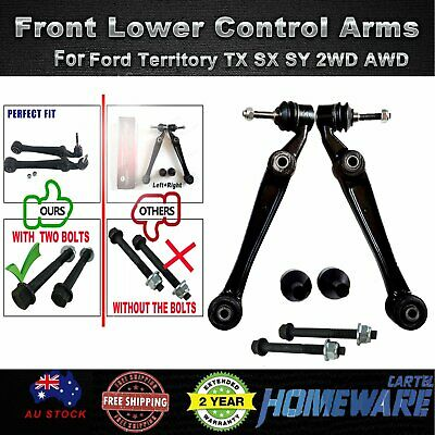 AU87.99 • Buy Front Lower Control Arms For Ford Territory TX SX SY 2WD AWD W/Ball Joints LH+RH